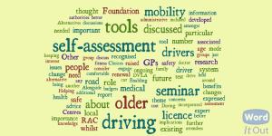 Older driver seminar word cloud