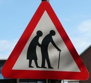 Older people crossing